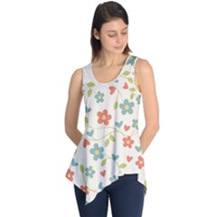 Abstract Art Background Colorful Sleeveless Tunic