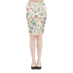 Abstract Art Background Colorful Midi Wrap Pencil Skirt