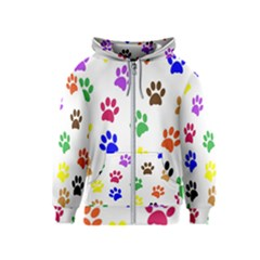 Pawprints Paw Prints Paw Animal Kids  Zipper Hoodie