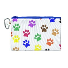 Pawprints Paw Prints Paw Animal Canvas Cosmetic Bag (large)