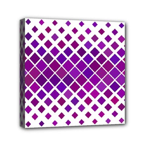 Pattern Square Purple Horizontal Mini Canvas 6  X 6