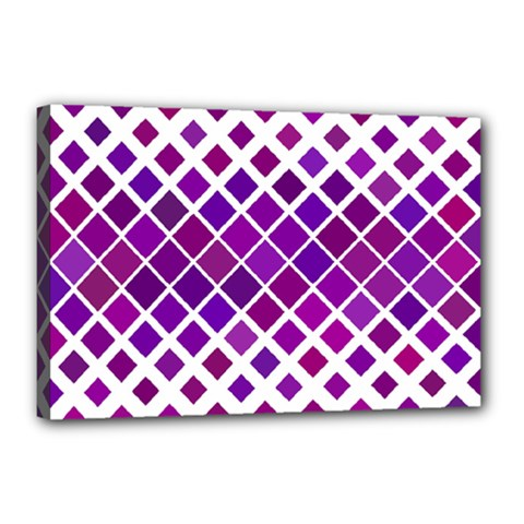 Pattern Square Purple Horizontal Canvas 18  X 12