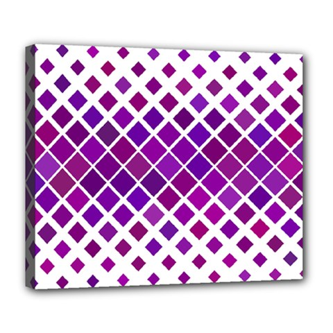 Pattern Square Purple Horizontal Deluxe Canvas 24  X 20