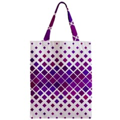 Pattern Square Purple Horizontal Zipper Classic Tote Bag