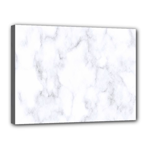 Marble Texture White Pattern Canvas 16  X 12