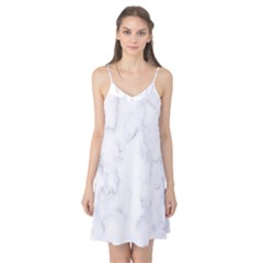 Marble Texture White Pattern Camis Nightgown