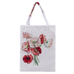 Flowers Poppies Poppy Vintage Classic Tote Bag
