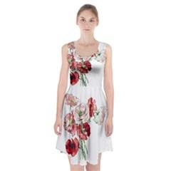 Flowers Poppies Poppy Vintage Racerback Midi Dress
