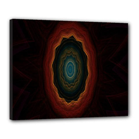Cosmic Eye Kaleidoscope Art Pattern Canvas 20  X 16