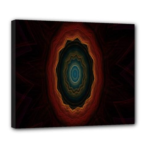 Cosmic Eye Kaleidoscope Art Pattern Deluxe Canvas 24  X 20