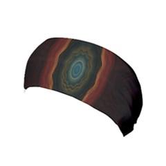 Cosmic Eye Kaleidoscope Art Pattern Yoga Headband