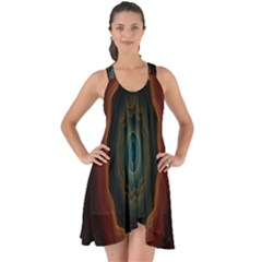 Cosmic Eye Kaleidoscope Art Pattern Show Some Back Chiffon Dress