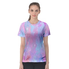 Space Psychedelic Colorful Color Women s Sport Mesh Tee
