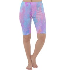 Space Psychedelic Colorful Color Cropped Leggings