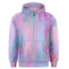 Space Psychedelic Colorful Color Men s Zipper Hoodie
