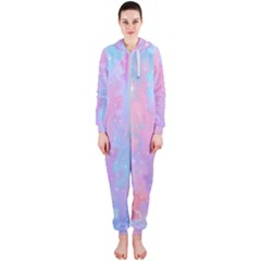 Space Psychedelic Colorful Color Hooded Jumpsuit (ladies)