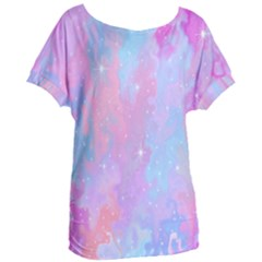 Space Psychedelic Colorful Color Women s Oversized Tee
