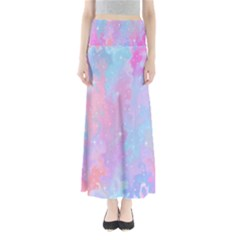 Space Psychedelic Colorful Color Full Length Maxi Skirt