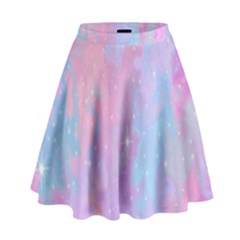 Space Psychedelic Colorful Color High Waist Skirt