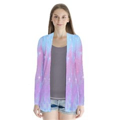 Space Psychedelic Colorful Color Drape Collar Cardigan