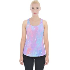 Space Psychedelic Colorful Color Piece Up Tank Top