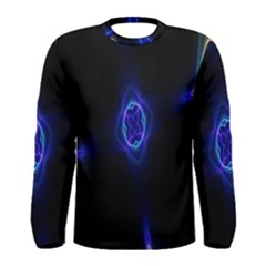 Lightning Kaleidoscope Art Pattern Men s Long Sleeve Tee