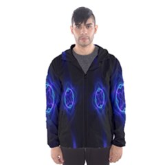 Lightning Kaleidoscope Art Pattern Hooded Wind Breaker (men)