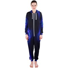 Lightning Kaleidoscope Art Pattern Hooded Jumpsuit (ladies)
