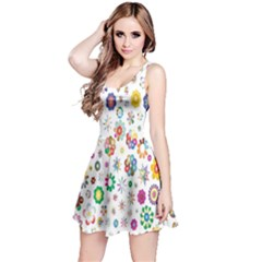 Design Aspect Ratio Abstract Reversible Sleeveless Dress