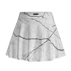 White Background Pattern Tile Mini Flare Skirt