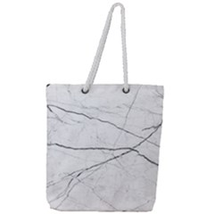 White Background Pattern Tile Full Print Rope Handle Tote (large)