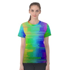 Colors Rainbow Chakras Style Women s Cotton Tee