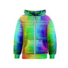 Colors Rainbow Chakras Style Kids  Zipper Hoodie