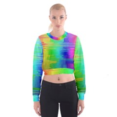 Colors Rainbow Chakras Style Cropped Sweatshirt
