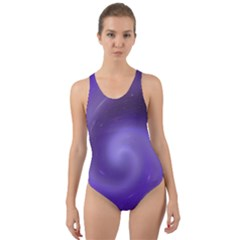 Spiral Lighting Color Nuances Cut Out Back One Piece Swimsuit