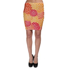 Abstract Art Background Colorful Bodycon Skirt