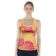 Abstract Art Background Colorful Racer Back Sports Top