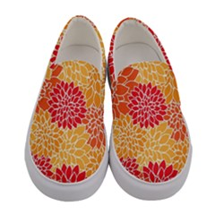Abstract Art Background Colorful Women s Canvas Slip Ons