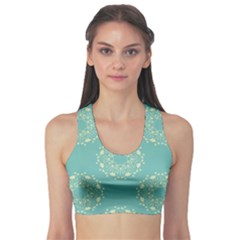 Floral Vintage Royal Frame Pattern Sports Bra