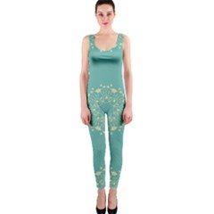 Floral Vintage Royal Frame Pattern Onepiece Catsuit