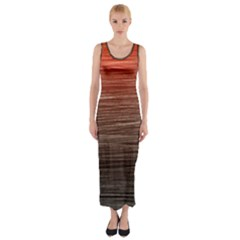 Background Red Orange Modern Fitted Maxi Dress
