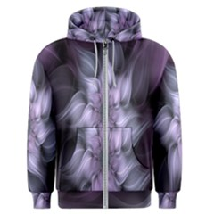 Fractal Flower Lavender Art Men s Zipper Hoodie
