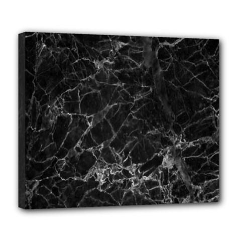 Black Texture Background Stone Deluxe Canvas 24  X 20