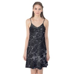 Black Texture Background Stone Camis Nightgown