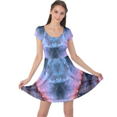 Sacred Geometry Mandelbrot Fractal Cap Sleeve Dress