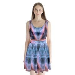 Sacred Geometry Mandelbrot Fractal Split Back Mini Dress
