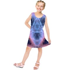 Sacred Geometry Mandelbrot Fractal Kids  Tunic Dress