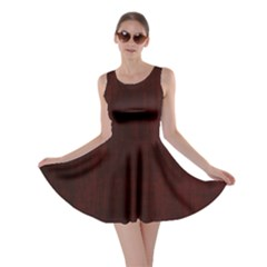 Grunge Brown Abstract Texture Skater Dress