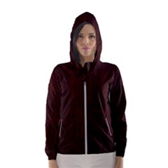 Grunge Brown Abstract Texture Hooded Wind Breaker (women)