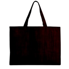 Grunge Brown Abstract Texture Zipper Mini Tote Bag